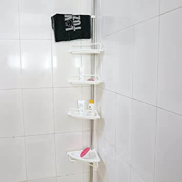 Amazon.com: 4-Tier Bathroom Corner Shelf,Adjustable Telescopic ...