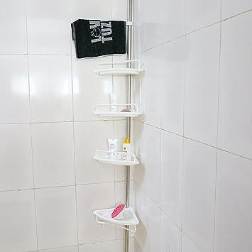 Amazon.com: Estink 4-Tier Bathroom Corner Shelf,Adjustable ...