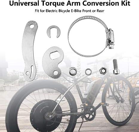 Uayasily Universal Torque Arm Kit De Conversi/ón Ajuste para Bicicleta El/éctrica E-Bici Delantera O Trasera 8pcs