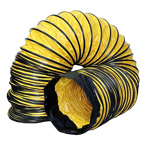 Americ AM-DS1225 Standard Flexible Ducting with Cinch Straps, Yellow/Black ()