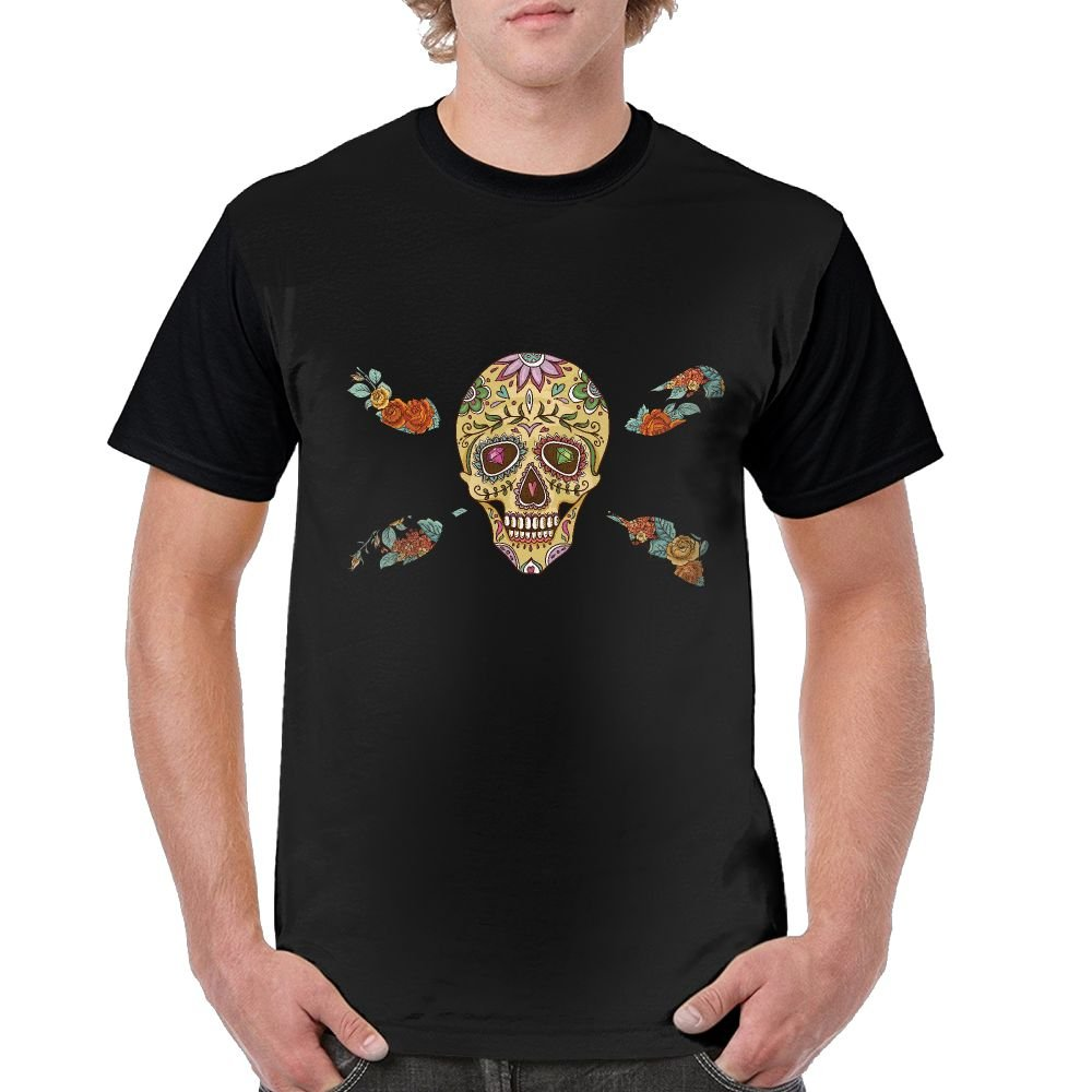 Mipu Shangmao Colorful Skull Rowing All Printing Picture Raglan Tshirt Fashion Short Sleeves for Men Go Out and Exercise