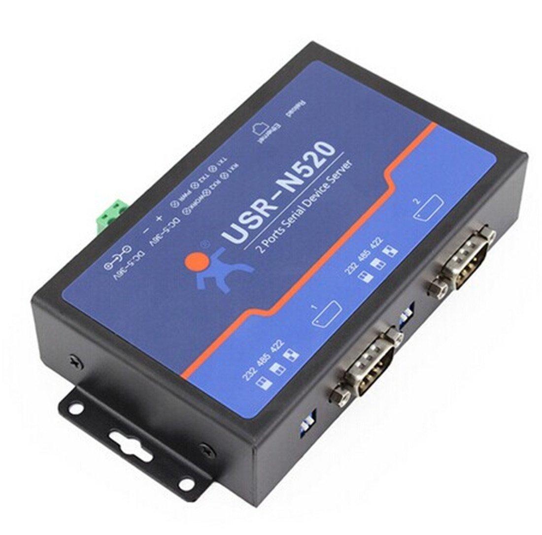 USRIOT USR-N520 série vers Ethernet Serveur TCP IP Converter Double périphérique série RS232 RS485 RS422 multi-hôte Polling