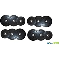 Rubber Weight Plates Spare; Black Exercise & Fitness Rubber Plates Home Gym 20 Kg-50 Kg