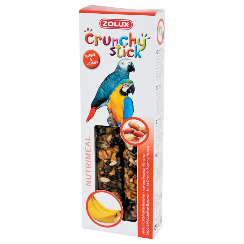 Zolux Crunchy Stick Friandise pour Perroquet Cacahuète/Banane 115 g 3336021371193