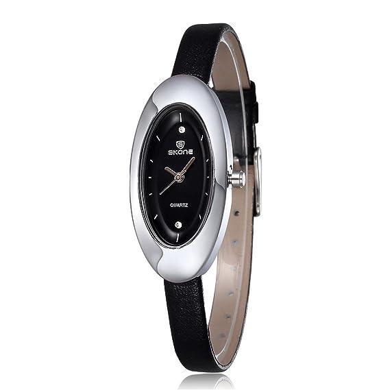 Skone nueva marca lujo deporte Casual relojes mujer silicona Rhinestone cuarzo Colorfull estudiantes Girl Dressing reloj