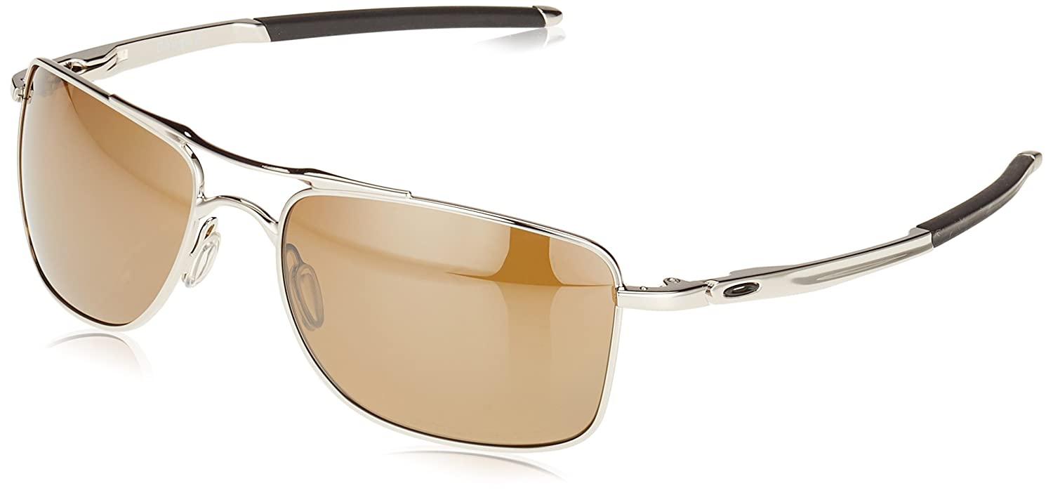 Oakley Men's Gauge 8 Sunglasses, Black (Polished Chrome), 57 0OO4124