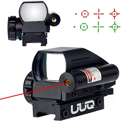 1xHolographic Airsoft Red Green Dot Sight Reflex Scope 4 Reticles Fit 20mm Rail