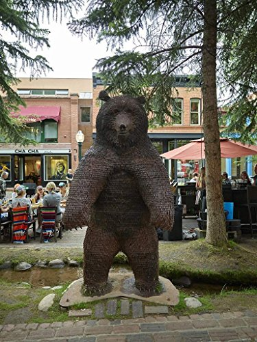 Historic Pictoric Photograph   Big Downtown Bear In The Old Mining Town Of Aspen  Now A Popular Arts And Skiing Destination  Fine Art Photo Reporduction 18In X 24In