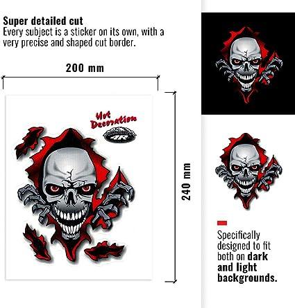4R Quattroerre.it 32102 Adesivo Stickers Teschio Squarcio 10 x 12 cm