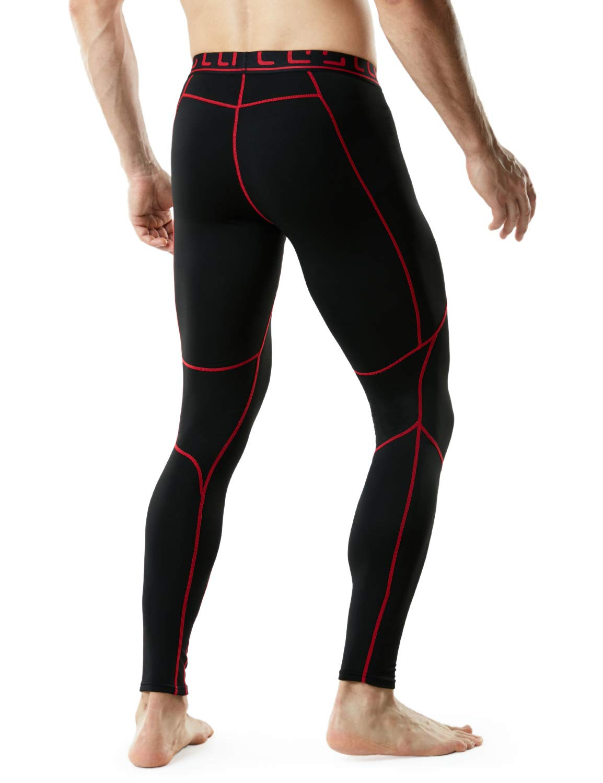 TSLA TM-YUP43-KKR_3X-Large Men's Emboss Pants Thermal Wintergear Compression Baselayer Sports Leggings YUP43 by TSLA (Image #5)