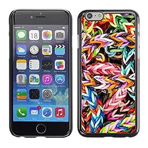 A-type Arte & diseño plástico duro Fundas Cover Cubre Hard Case Cover para Apple (4.7 inches!!!) iPhone 6 / 6S (Caramelo colorido)