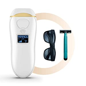 IPL Hair Removal for Women, Permanent Laser Hair Removal 999,900 Flashes, At Home Use Painless Hair Remover on Bikini line, Legs, Arms, Armpits