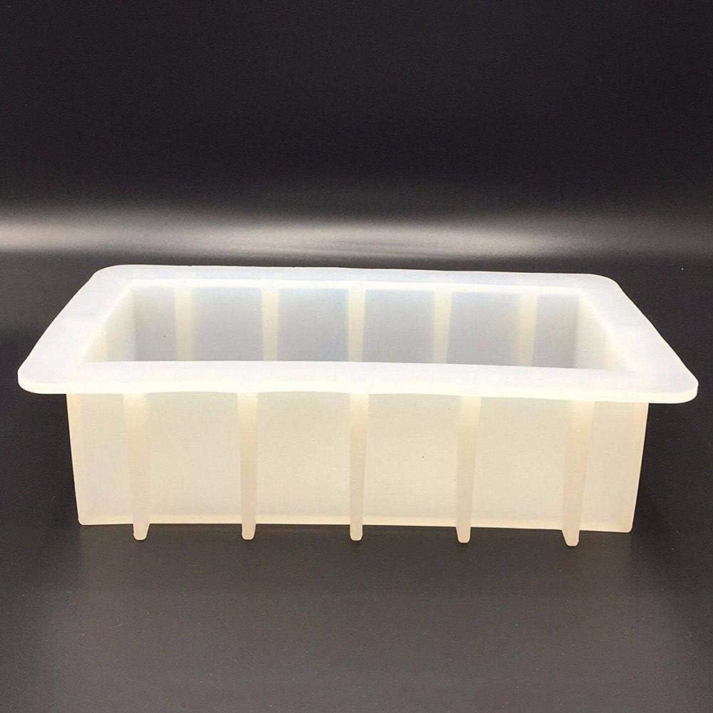 Katurn Seife Silikonform Mold Silikon Handgemachte Seifenform Rechteckig F/ür DIY Seifenherstellung