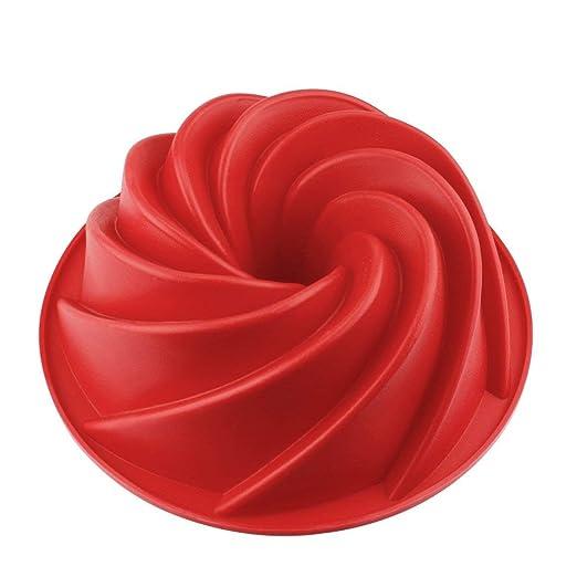 CUWMOC - Molde de Silicona para bizcochos (25 cm), Color Rojo ...