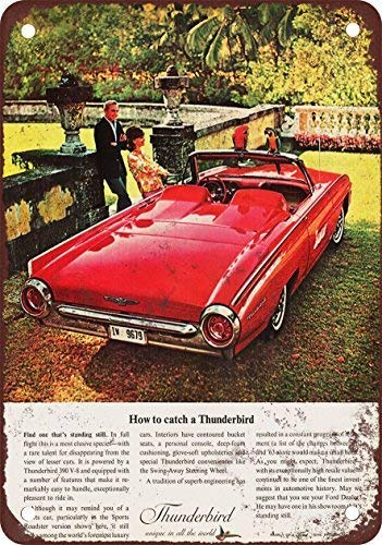 1963 Thunderbird Sports Roadster Vintage Look Reproduction Novelty Metal Sign for Home Decor Tin Sign for Man Women Cave
