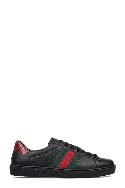 GUCCI HOMBRE 386750A38D01078 NEGRO CUERO ZAPATILLAS: Amazon.es: Zapatos y complementos