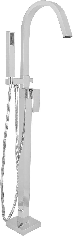 Armatur Zeitgen/össisch Freistehende Badewanne Wannenmischbatterie Standarmatur Schwarz Messing Verchromt Wannenarmatur Stehend Handbrause Brause Wannen