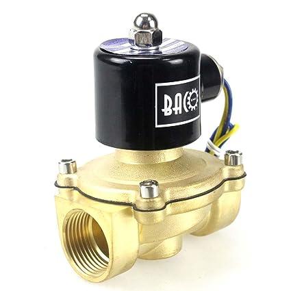 """BACOENG AC 220V 1"""" válvula de solenoide eléctrica latón Solenoid Valve para agua aire aceite"""
