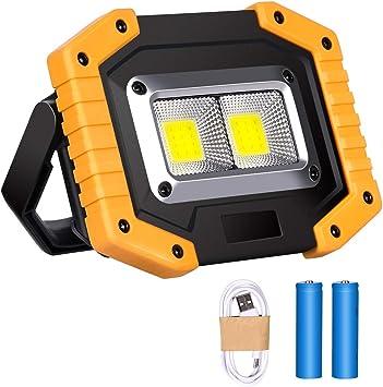 Luz de Trabajo LED Recargable, Luz de Inundación Portátil 30W USB, 3 Modos, Linterna al Aire Libre Impermeable para la Reparación de Automóviles, ...