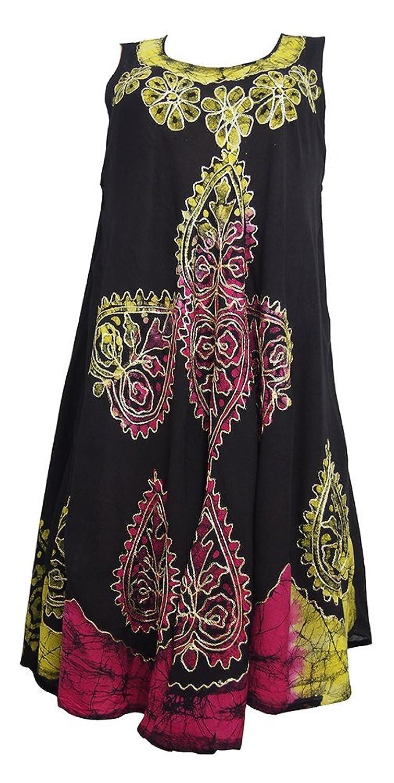 Damen Schwarz Regenschirm Cut One Size Blumendruck - ärmel Strand Sommer Umstandskleid