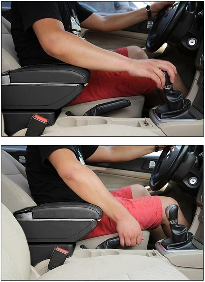 Muchkey Auto Mittelarmlehne F/ür N issan Juke 2014-2017 Armlehne Double-Space Mittelkonsole mit 7 USB-Anschl/üsse Autozubeh/ör Beige