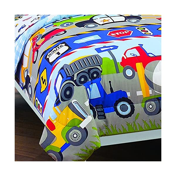 CHF Trains and Trucks Twin Mini Bed in a Bag 7