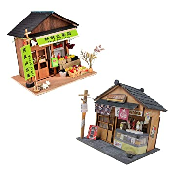 Dolls & Stuffed Toys Diy Handcraft Miniature Project Wooden Dolls House Antique Barbecue Restaurant Model Home Display Ornaments