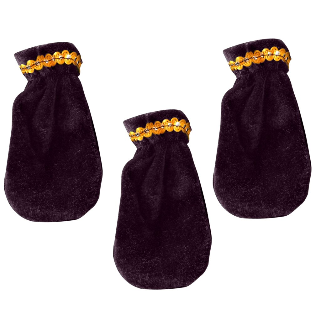 Black D DOLITY Set of 3pcs Pleuche Piano Pedal Foot Cover Case Bordered Protective Sleeve