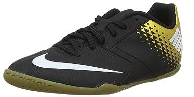 330f578c7114 Nike Men's Bombax Indoor Soccer Shoe Black/White/Metallic Vivid Gold Size 7  M
