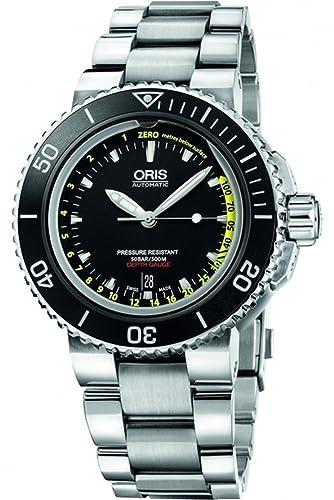 Oris Aquis Profundidad calibrador Mens Reloj 733 7675 41 54 RS: Amazon.es: Relojes