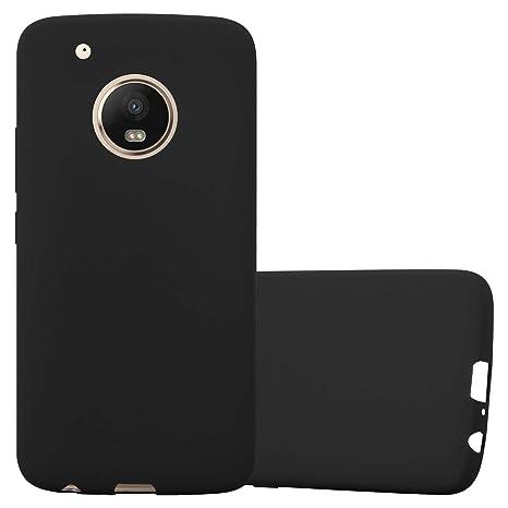 Cadorabo Funda para Motorola Moto G5 Plus en Candy Negro – Cubierta Proteccíon de Silicona TPU Delgada e Flexible con Antichoque – Gel Case Cover ...
