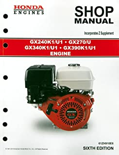 amazon com honda gx120 gx160 gx200 engine service repair shop rh amazon com Lawn Boy 10323 Manual Clymer Manuals