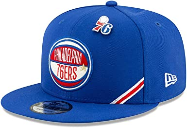 New Era Philadelphia Sixers Adjustable 9Fifty NBA Flat Bill Baseball Cap