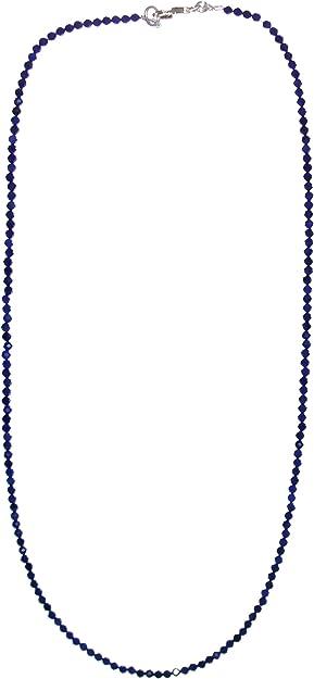 Kette Bird Lapislazuli  Kunstseidenband mit Mondsteinanh\u00e4nger Venezia Handelsperle facettiert und in Silber gefa\u00dft vintage Lapislazuli