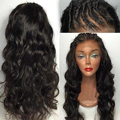 Shengji Hair Brazilian Human Hair Silk Top Full Lace Wig 100% Virgin Human Hair Silk Top Full Lace Wig For Black Women (22 inch with 130 density)