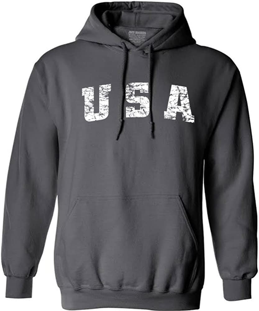 Vintage USA Logo Hoodies - Hooded Sweatshirts in 28 Colors in Sizes S-4XL
