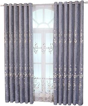 YAY-A Cortinas, Sombreado De Poliéster En Relieve Bordado Cortina de la Ventana de la Pantalla, Adecuado para dormitorios de salón. Múltiples tamaños Disponibles,2*W46*L54IN: Amazon.es: Hogar