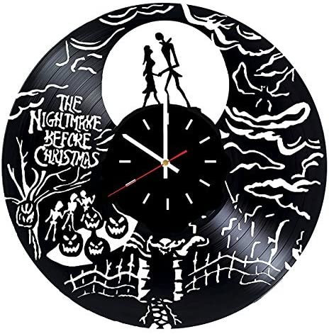 choma Nightmare Before Christmas Art Vinyl Record Wall Clock