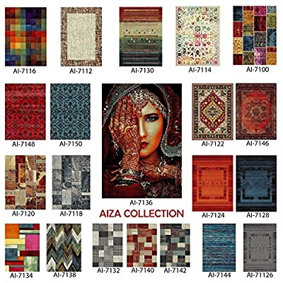 AREA RUGS - Anti-Bacterial Decorative Modern Contemporary Designs for Living Room Bedroom Kitchen Home Entrances - Olefin FIBER, Frieze YARN