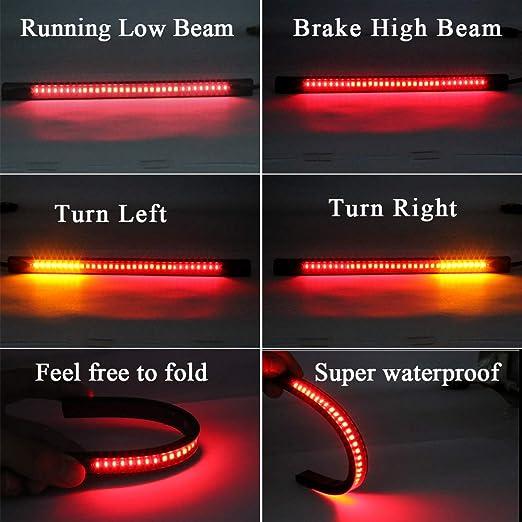 affumicato luci di direzione freno lampada di coda con luce targa per Harley Sidaqi 60-LEDS Moto multifunzione in una luce di posizione posteriore