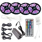 SZYT RGB waterproof LED soft light strip set 44 key controller UK plug