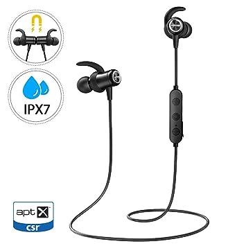 Mpow S11 Auriculares Bluetooth 5.0, Auricular aptX Deporte In Ear ...