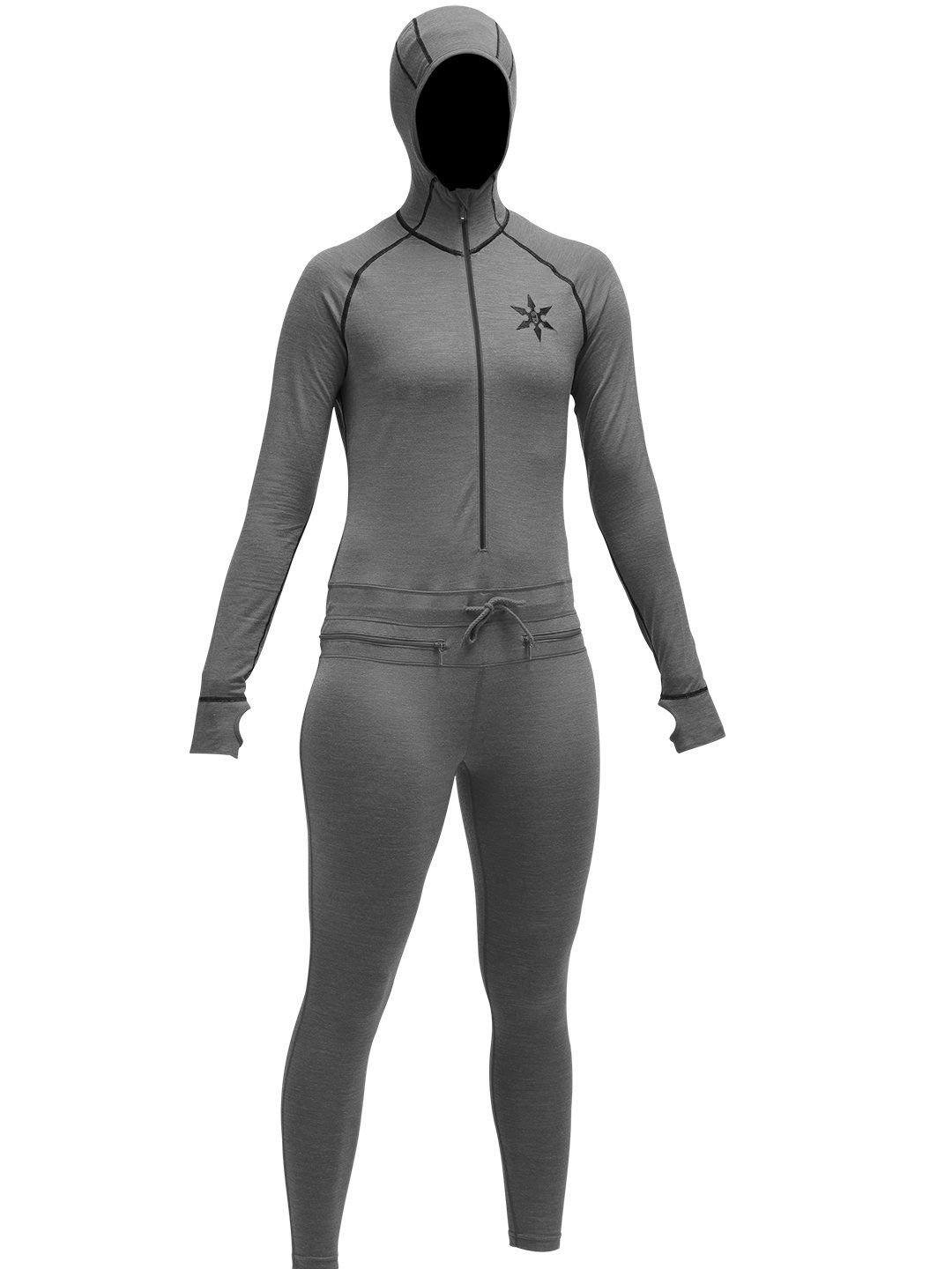 Airblaster Merino Ninja Suit - Women's Natural Black, M by AIRBLASTER