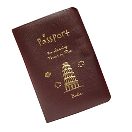 Cafon Simple Travel Id Card Holder Skin Faux Leather Passport Cover