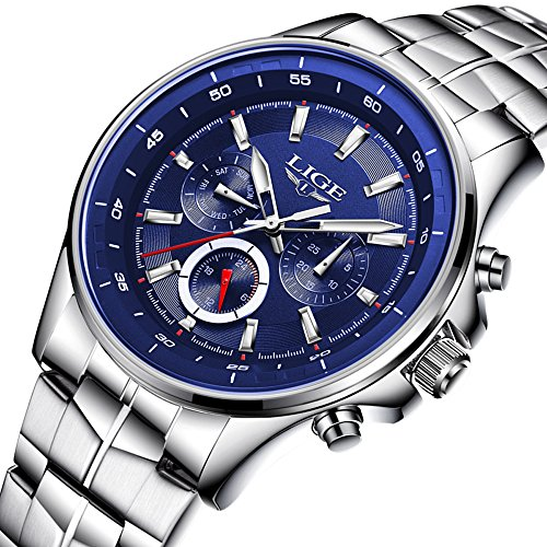 Men Business Watch Waterproof 30M Clock Stainless-steel Band Mens Watches Top Brand Luxury Fashion Casual Sport...
