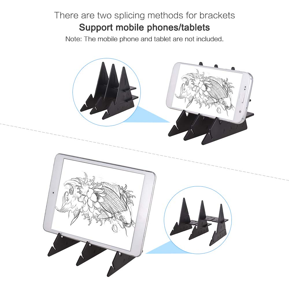 Aibecy Portable Optical Tracing Board Copy Pad Pannello Artigianato Pittura anime Arte Facile Disegno Strumento di schizzi a base di zero Giocattolo Stampo Regalo per gli studenti Adulti Artisti