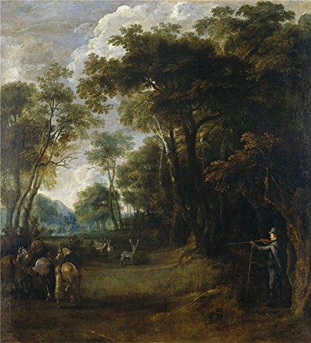 SnayersピーターCaceria de Felipe IV ( II ) 1637`油絵、8x 9インチ/ 20x 22cm、の印刷ポリエステルキャンバス、このReproductionsアートリビングルームの装飾キャンバスプリントはSuitalbeどんなギャラリーアートとホームデコレーションとギフトの商品画像