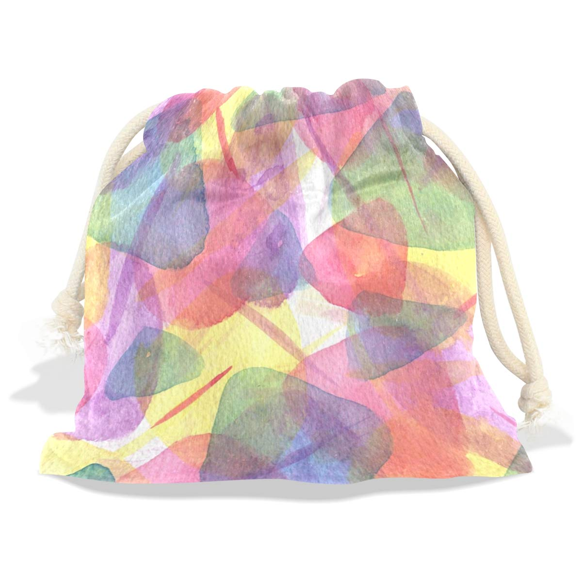 Amazon.com: Watercolor Texture ArtworkGift Bag with Drawstring ...