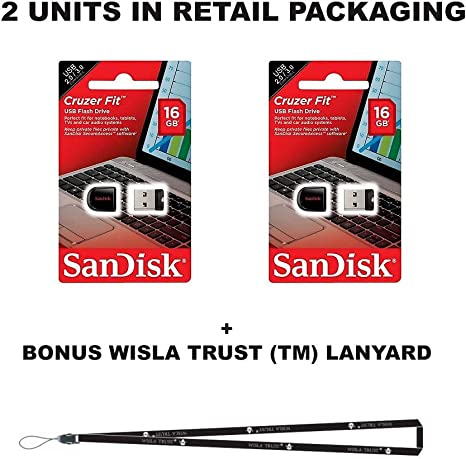 SanDisk Cruzer Fit 16 GB (2 Pack)=32 GB SDCZ33 – 016 G USB 2.0 ...