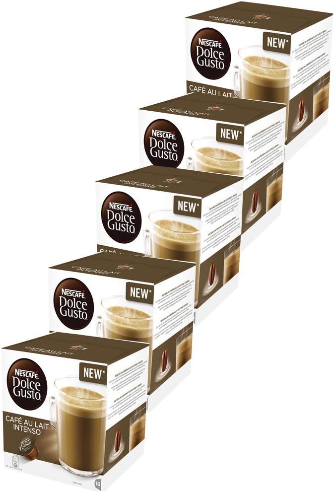CAFE CON LECHE INTENSO NESCAFE DOLCE GUSTO -5x16 capsulas- 80 ...